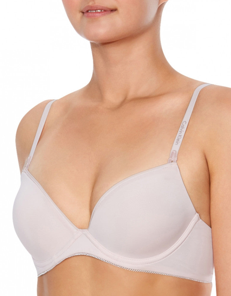 Lily Pink Front Calvin Klein Seductive Comfort Caress Customized Lift Bra
