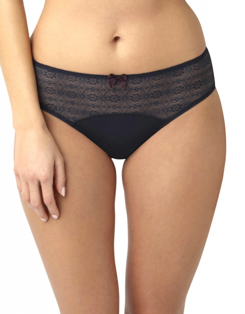 Navy/Plum Front Panache Porcelain Elan Lace Brief