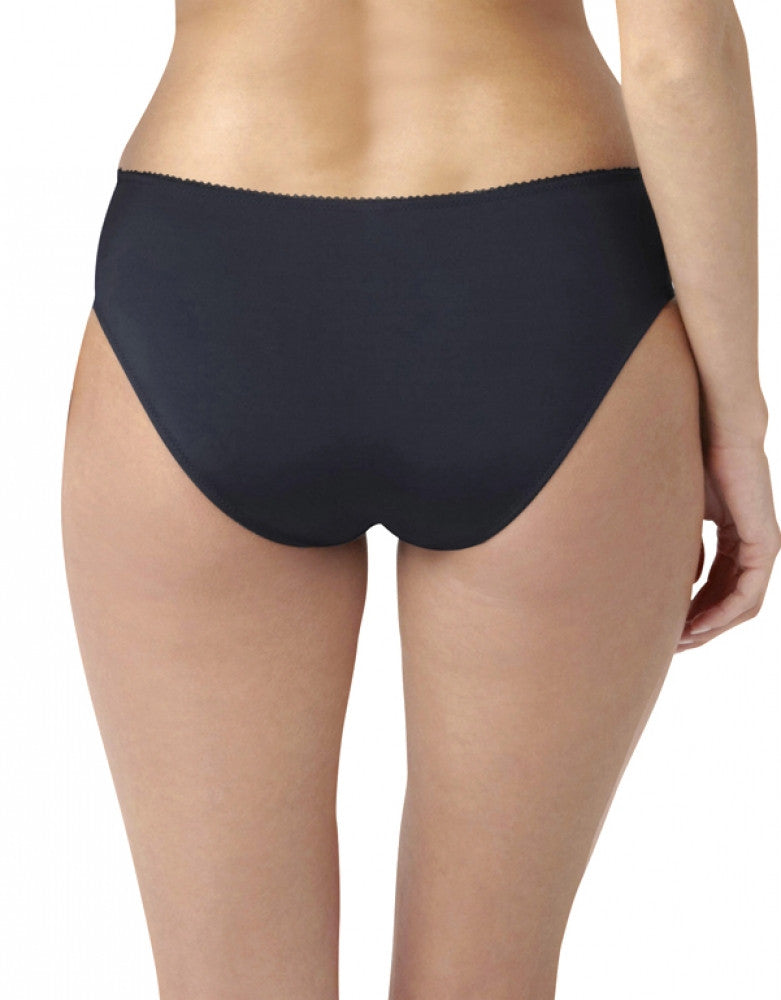 Navy/Plum Back Panache Porcelain Elan Lace Brief
