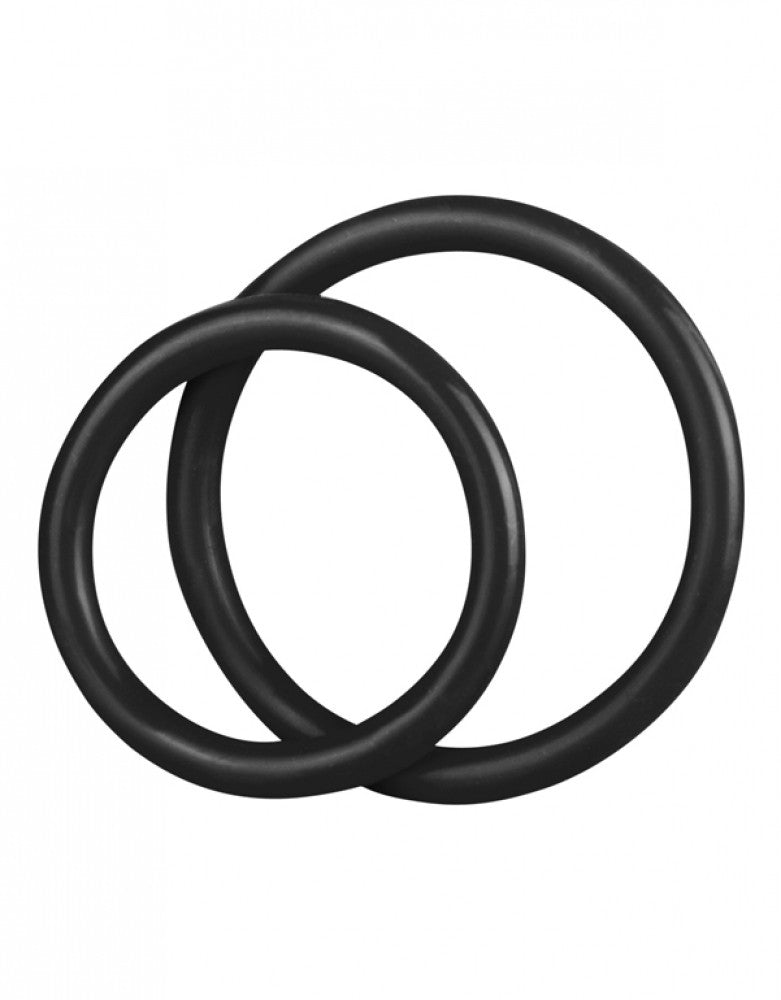 Blue Line Silicone Cock Ring Set Black OS 4890808125274