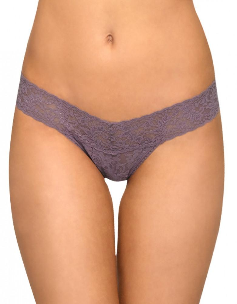Dusk Front Hanky Panky Stretch Signature Lace Low Rise Thong