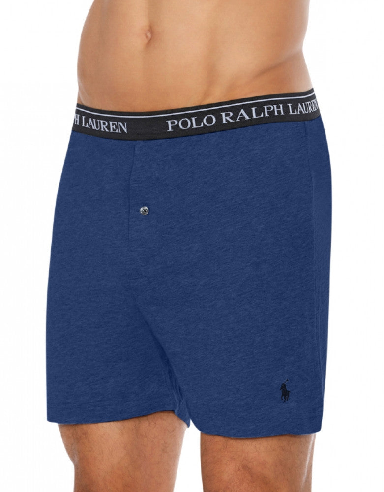 3 Polo Ralph Lauren Men/'s Classic Fit Cotton Knit Blue Boxer Briefs Size M