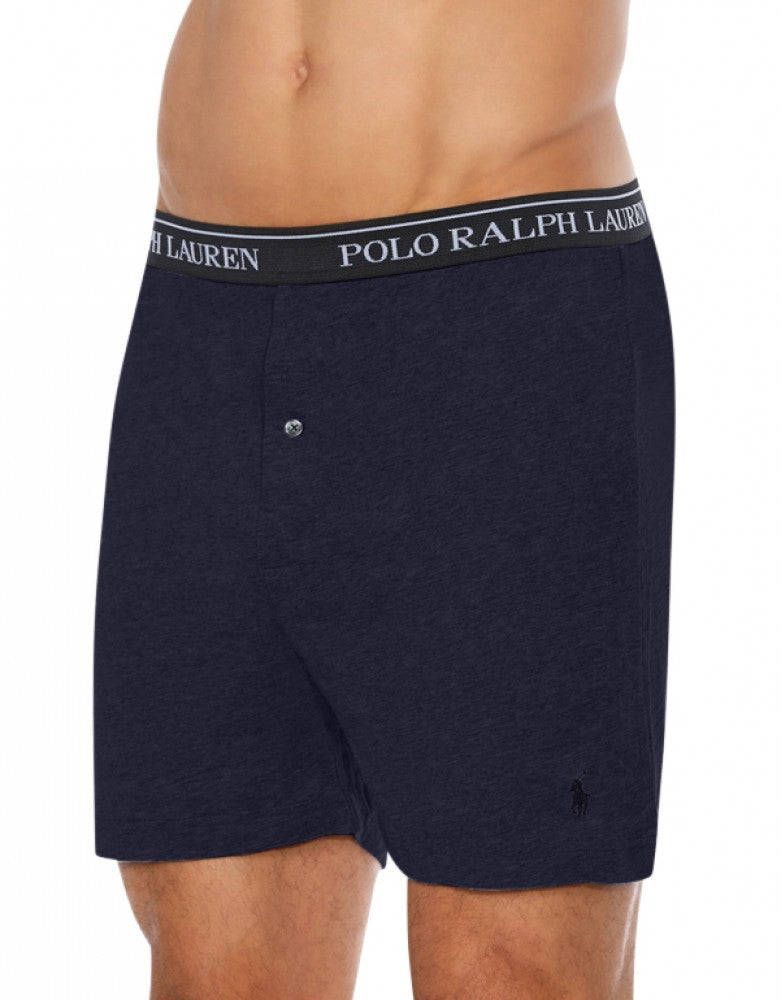 Blue Assorted Front Polo Ralph Lauren 3-Pack Classic Cotton Knit Boxer Shorts