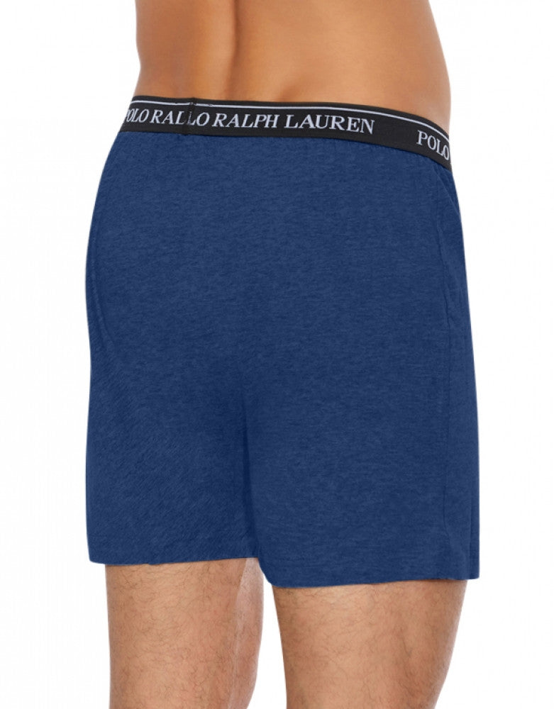 Blue Assorted Back Polo Ralph Lauren 3-Pack Classic Cotton Knit Boxer Shorts