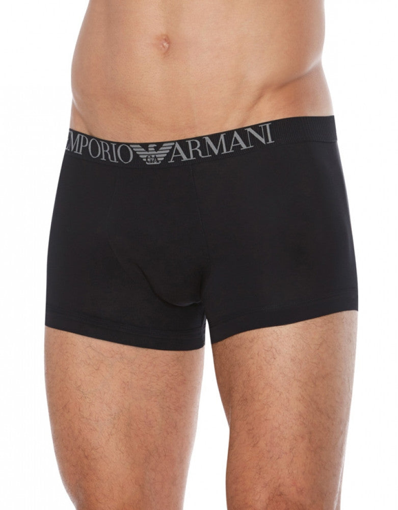 Black Front Emporio Armani Pima Cotton Trunk