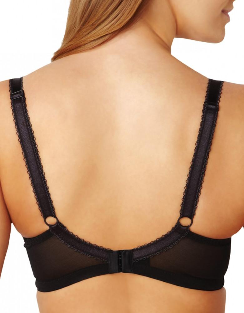 Charcoal/Black Back Panache Clara Full Cup Bra 7255