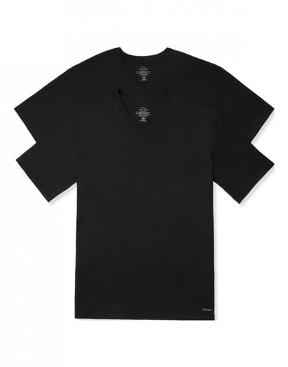 Black Other Calvin Klein 2-Pack Big Man V-Neck T-Shirts