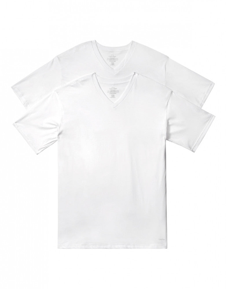 White Other Calvin Klein 2-Pack Big Man V-Neck T-Shirts