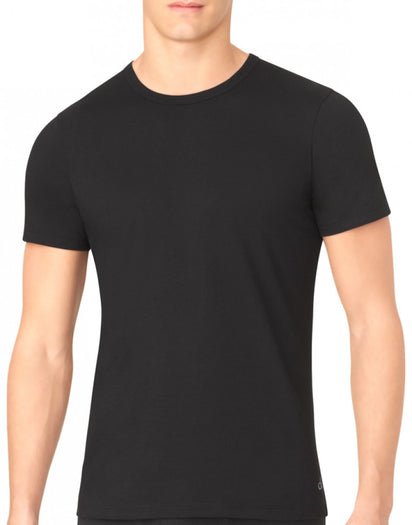 Black Front Calvin Klein 3-Pack Core Cotton Classics Slim Crew Neck T-Shirts