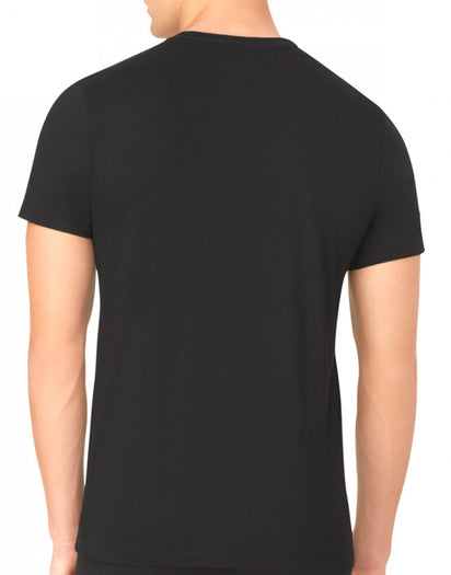 Black Back Calvin Klein 3-Pack Core Cotton Classics Slim Crew Neck T-Shirts