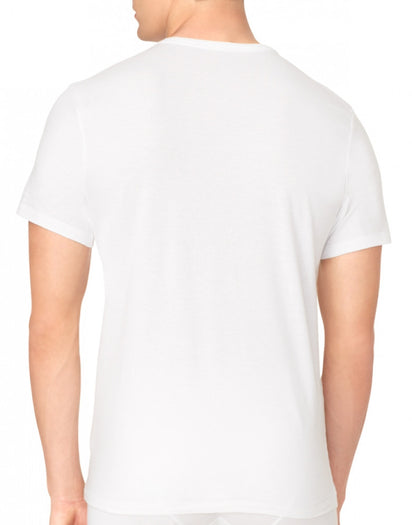 White Back Calvin Klein 3-Pack Core Cotton Classics Slim Crew Neck T-Shirts