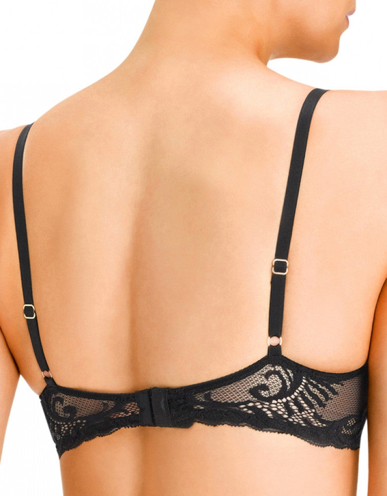 Black Back Natori Feathers Sheer Plunge Bra