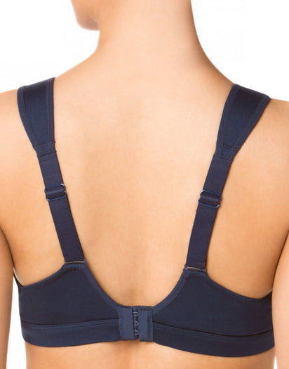 Navy Back Moving Comfort Maia High Impact Sports Bra