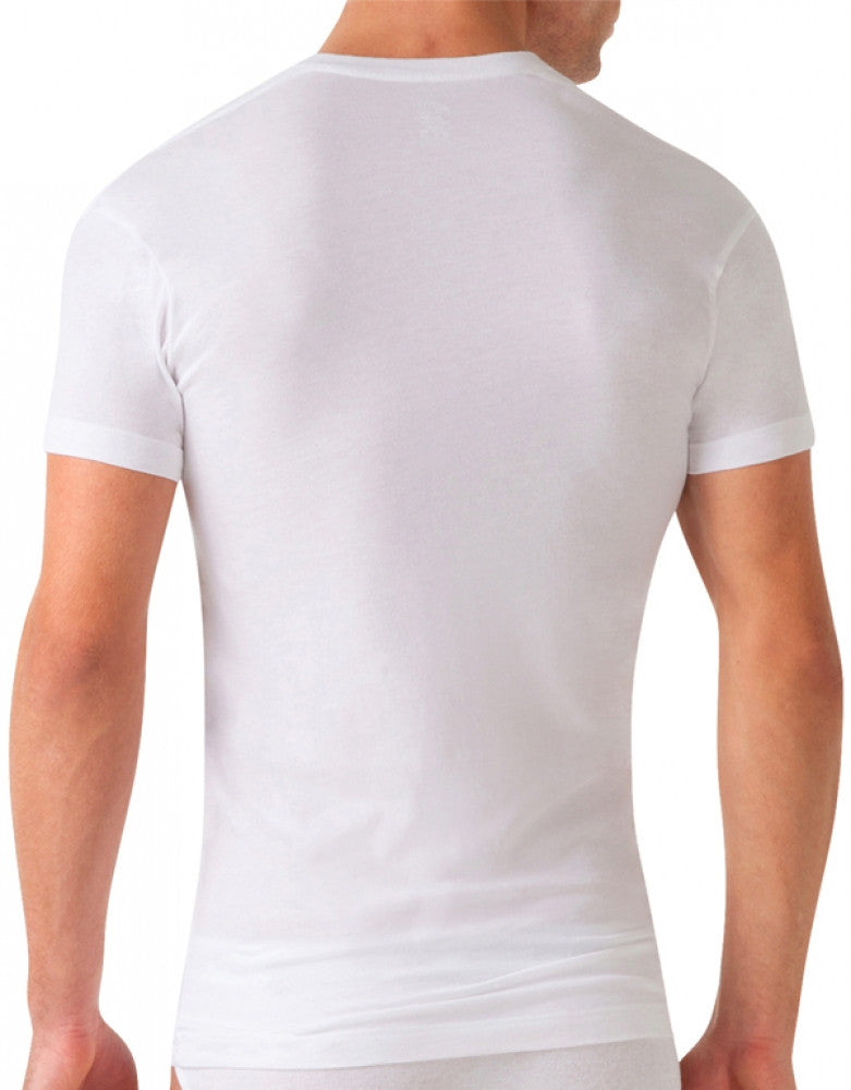 White Back 2xist Pima Slim Fit Deep V-Neck T-Shirt