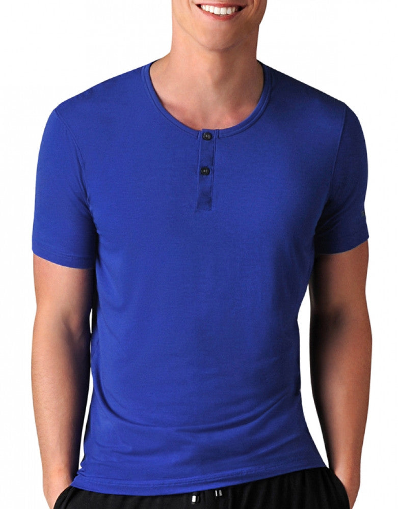 Sodalite Blue/Black Front Naked Edge Sleep Henley