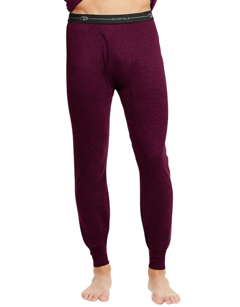 Duofold Men Duofold by Champion Thermal Pants Bordeaux Red XL 078715620257