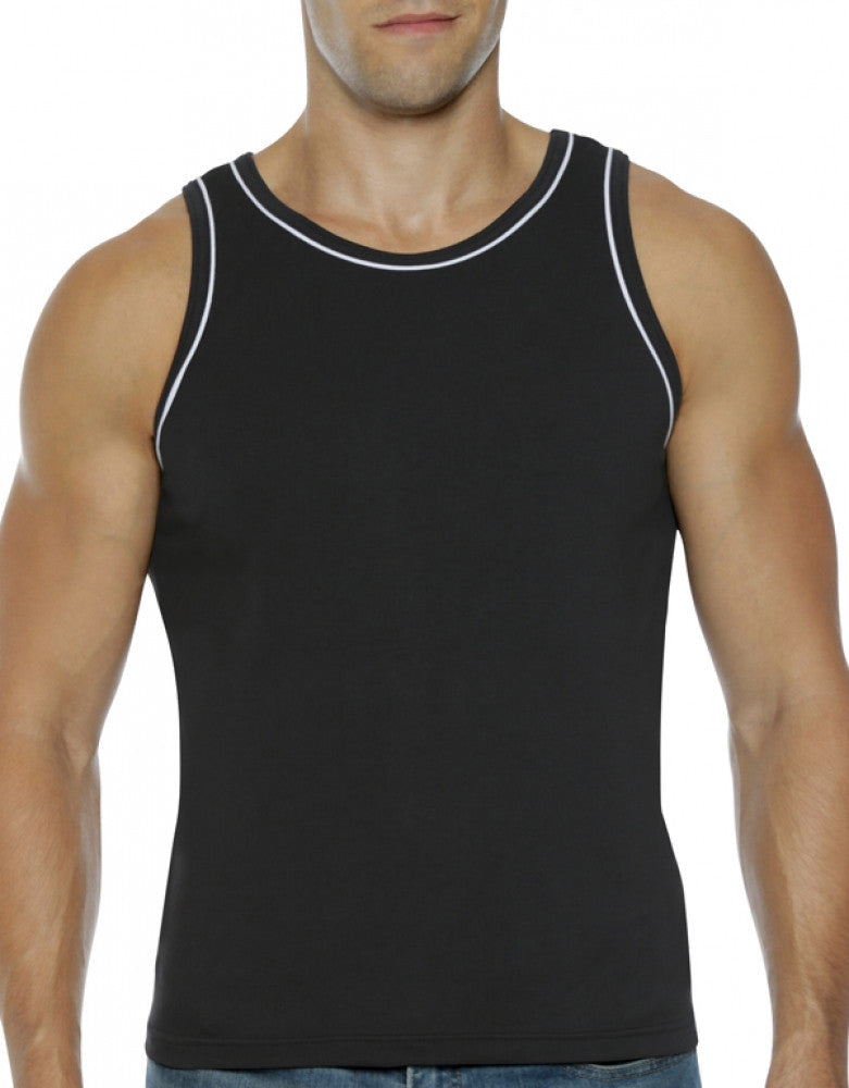 Black Front Go Softwear Hard Core Edge Muscle Tank