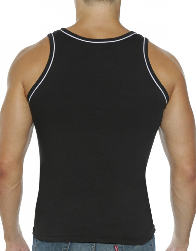 Black Back Go Softwear Hard Core Edge Muscle Tank