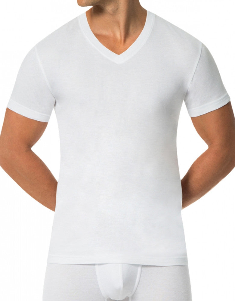 White Front Papi 3-Pack Cotton V-Neck T-Shirts