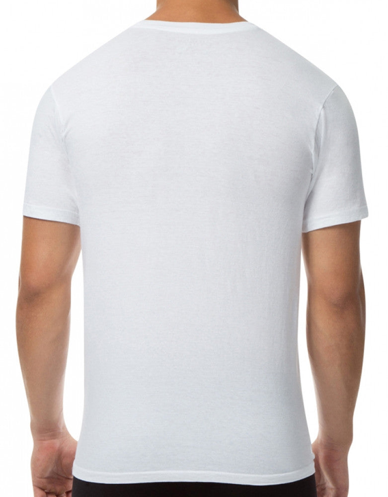 White Back Papi 3-Pack Cotton V-Neck T-Shirts