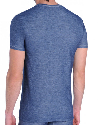 Navy Back Diesel Underdenim V-Neck T-Shirt