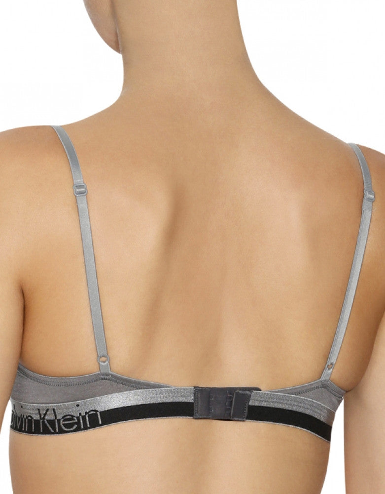 Steel Grey Heather Back Calvin Klein Magnetic Force Push-Up Bra