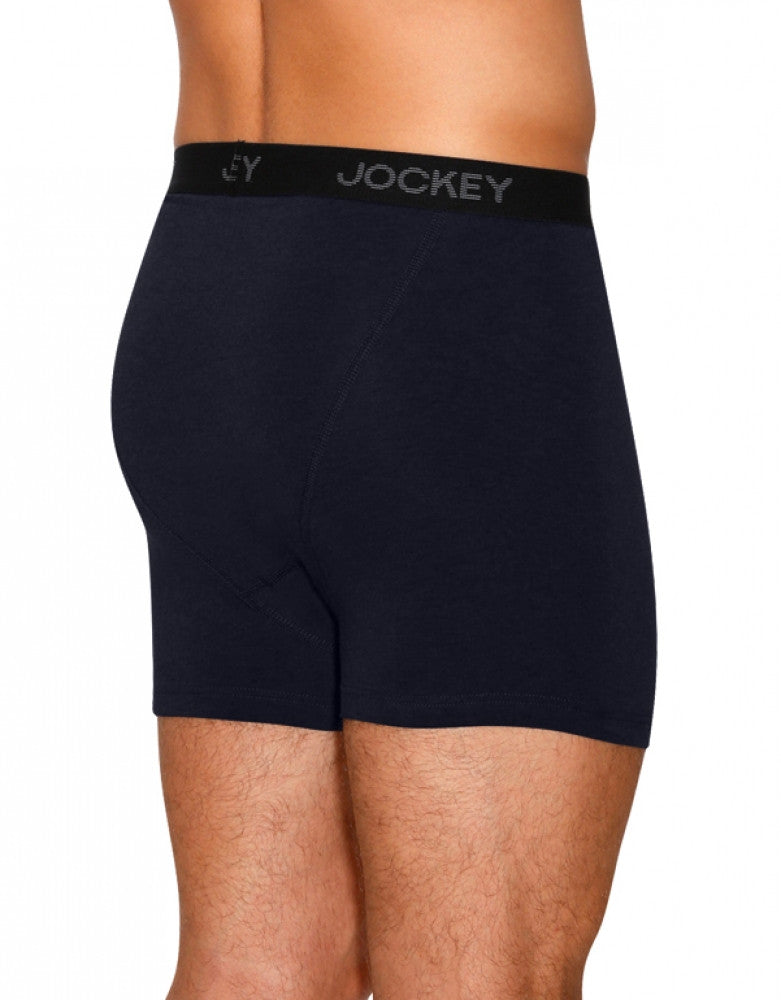 Best Navy/Blue Heather/Best Navy Back Jockey 3-Pack Full Rise Cotton Stretch Boxer Briefs