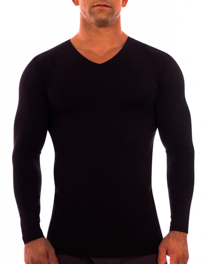 Black Other Obviously Essence V-Neck Long Sleeve T-Shirt