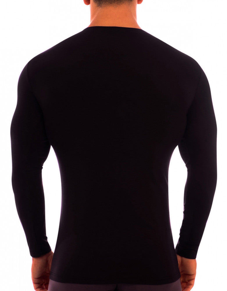 Black Back Obviously Essence V-Neck Long Sleeve T-Shirt