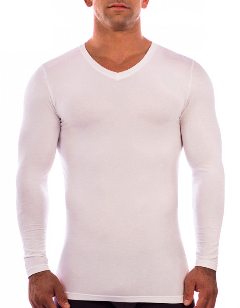 White Other Obviously Essence V-Neck Long Sleeve T-Shirt