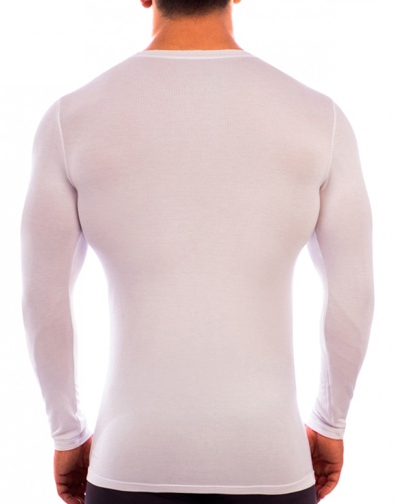White Back Obviously Essence V-Neck Long Sleeve T-Shirt