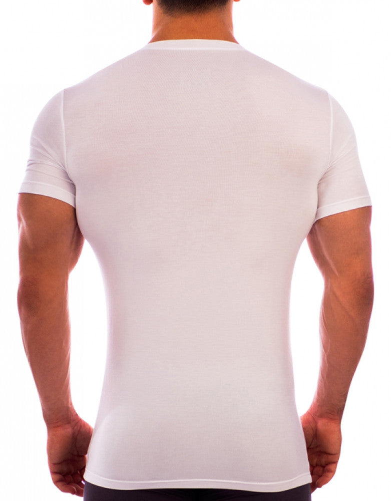 White Back Obviously Essence V-Neck T-Shirt
