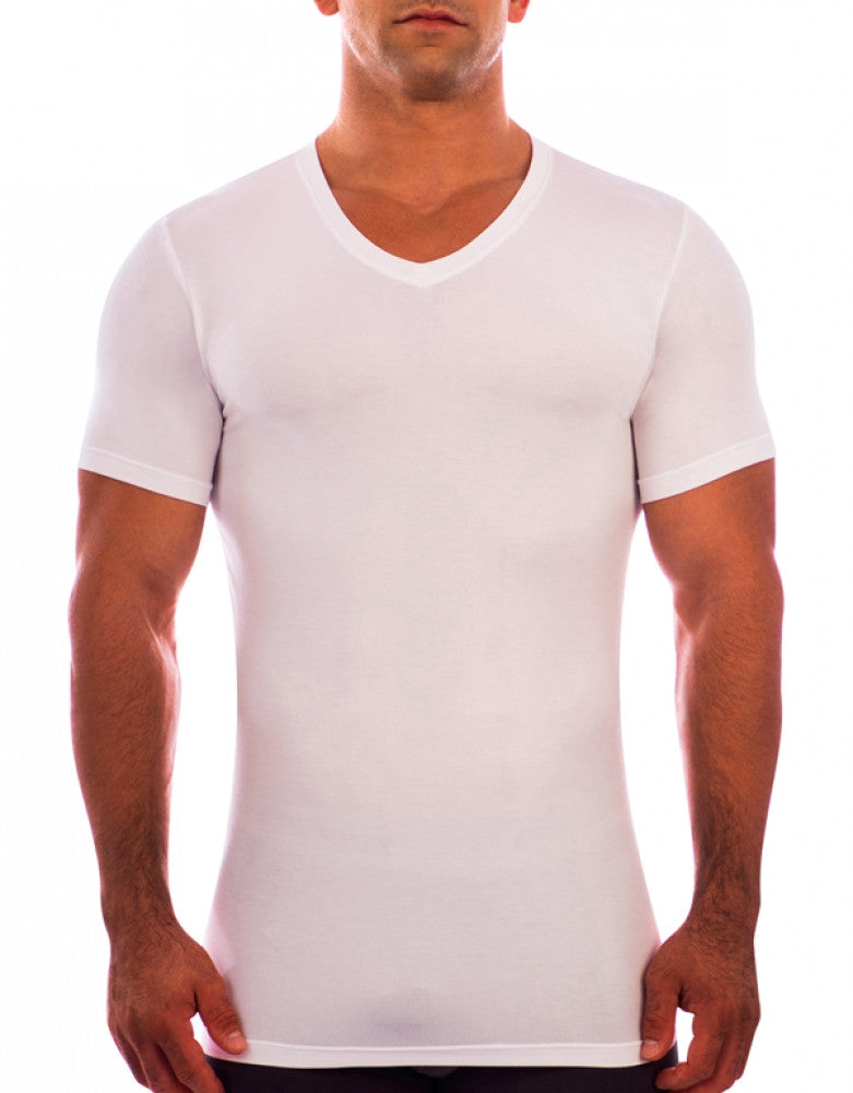 White Front Obviously Essence V-Neck T-Shirt