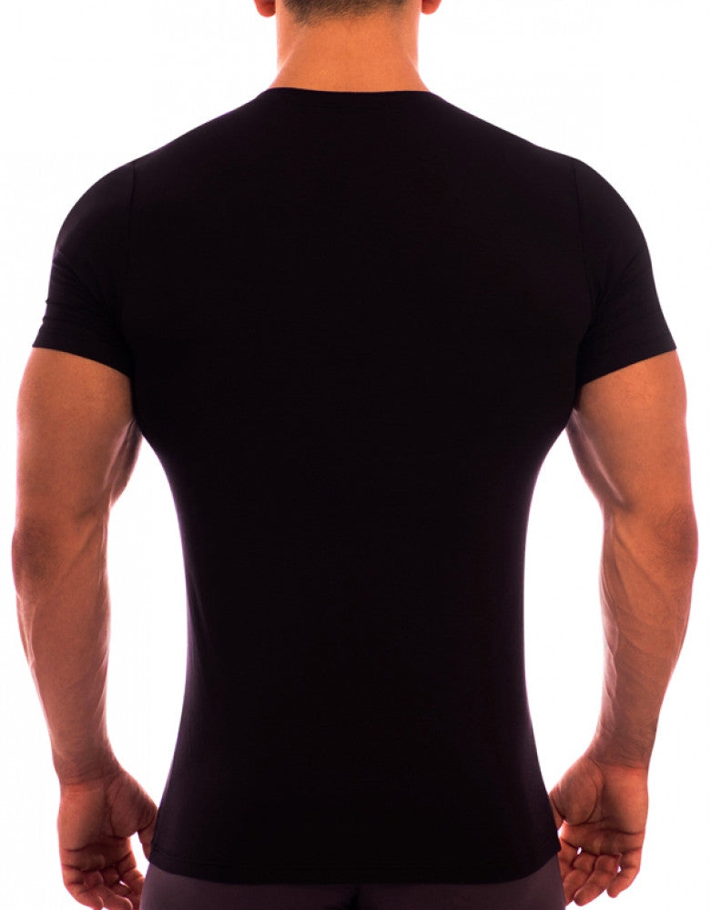 Black Back Obviously Essence V-Neck T-Shirt