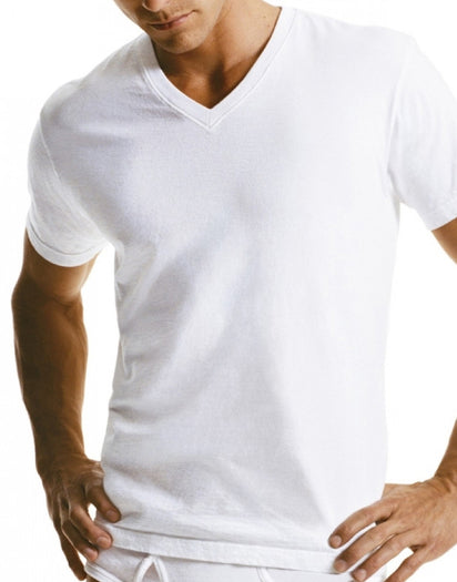 White Front Calvin Klein 2-Pack Big Man V-Neck T-Shirts