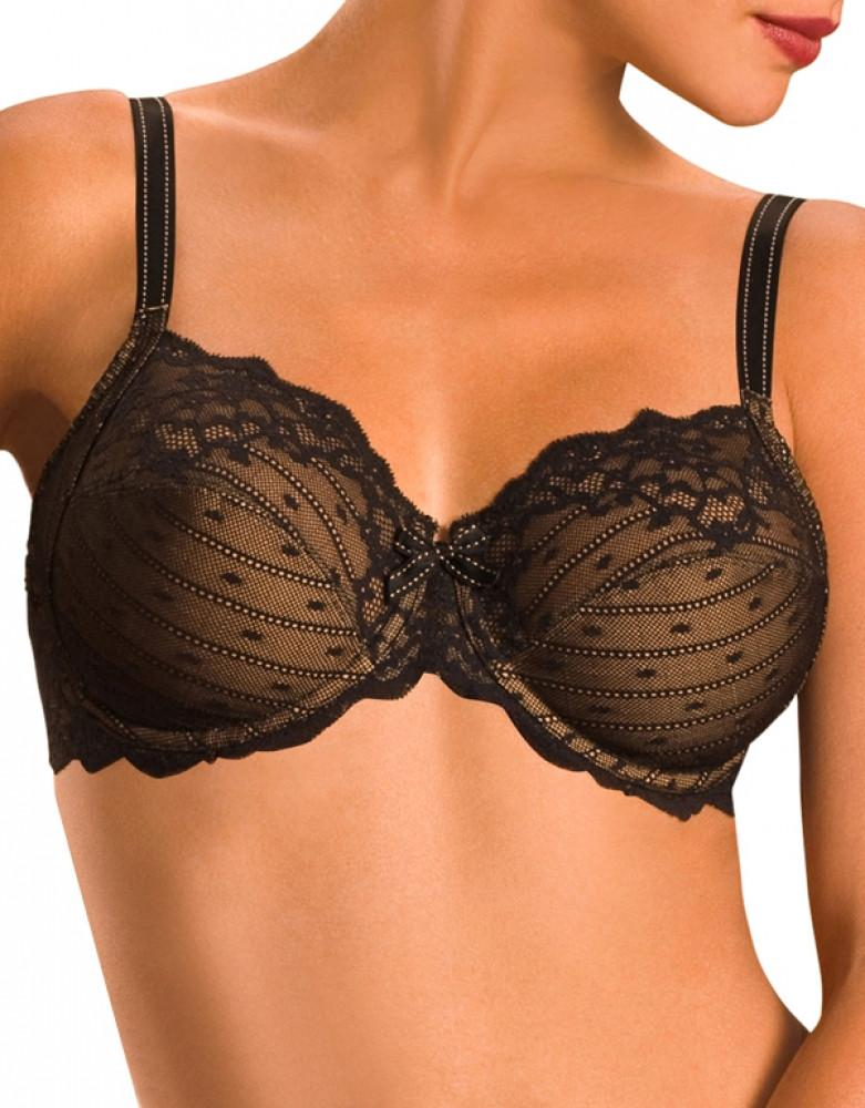 black lace underwire bra for women