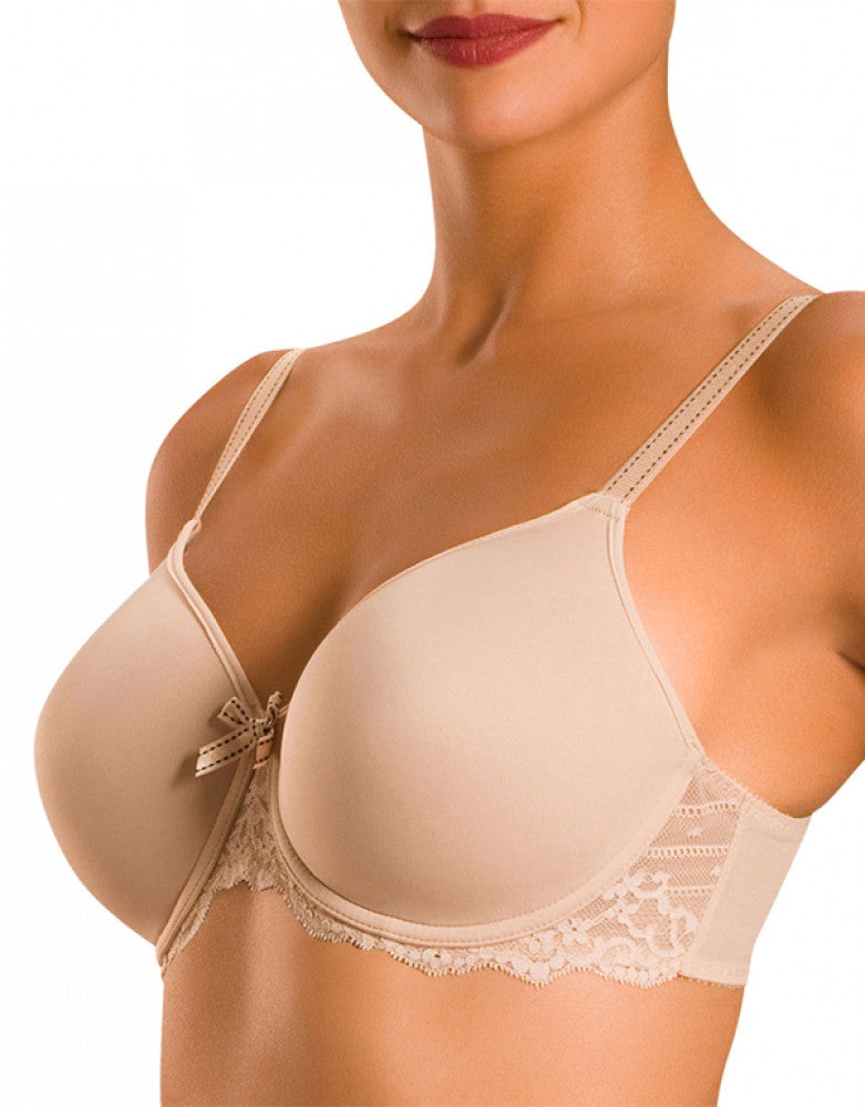Cappuccino Front Chantelle Rive Gauche Full Coverage T-Shirt Bra