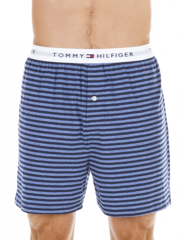 Blue Assorted Front Tommy Hilfiger 3-Pack Cotton Knit Boxer Shorts