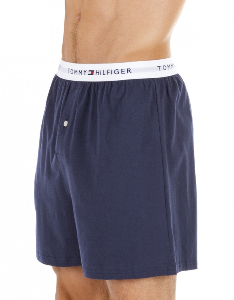 Blue Assorted Side Tommy Hilfiger 3-Pack Cotton Knit Boxer Shorts