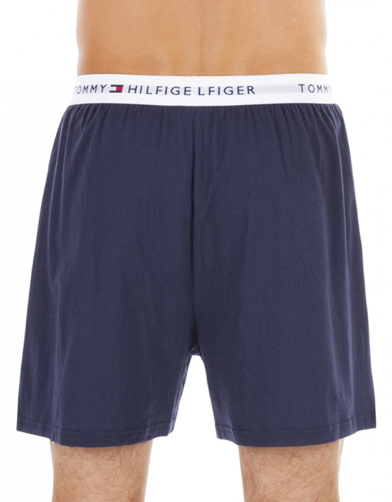 Blue Assorted Back Tommy Hilfiger 3-Pack Cotton Knit Boxer Shorts