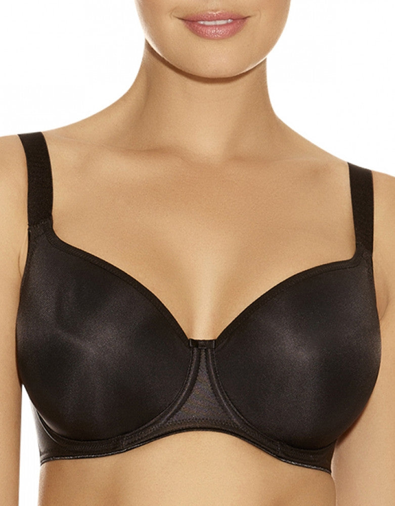Black Front Fantasie Smoothing Moulded Balcony Bra 4520
