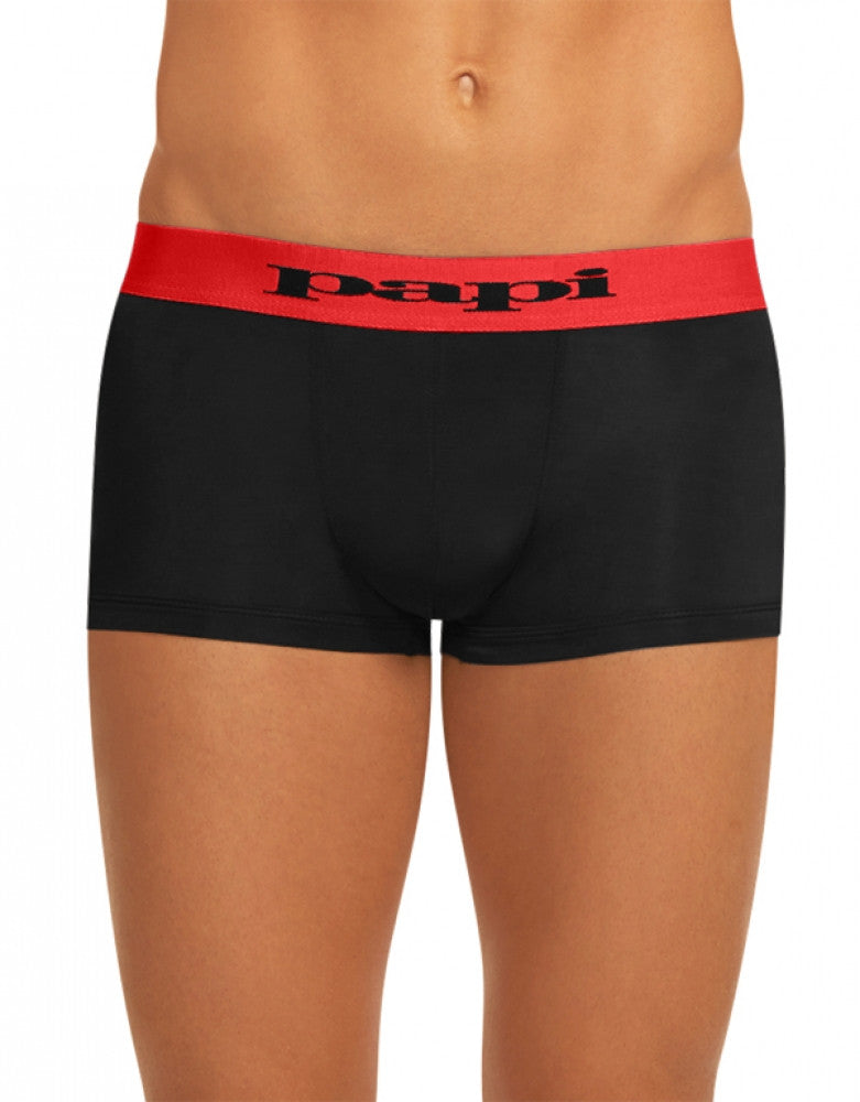 Red/Black Side Papi 2-Pack Microflex Brazilian Trunks