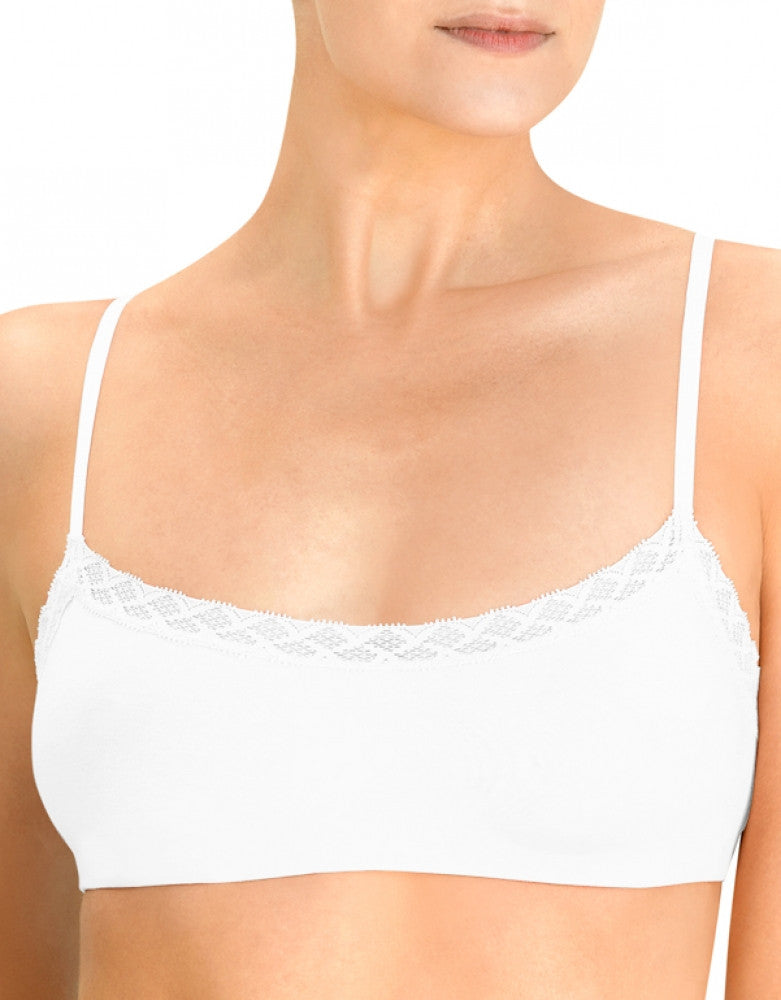White Front Natori Bliss Cotton Bralette