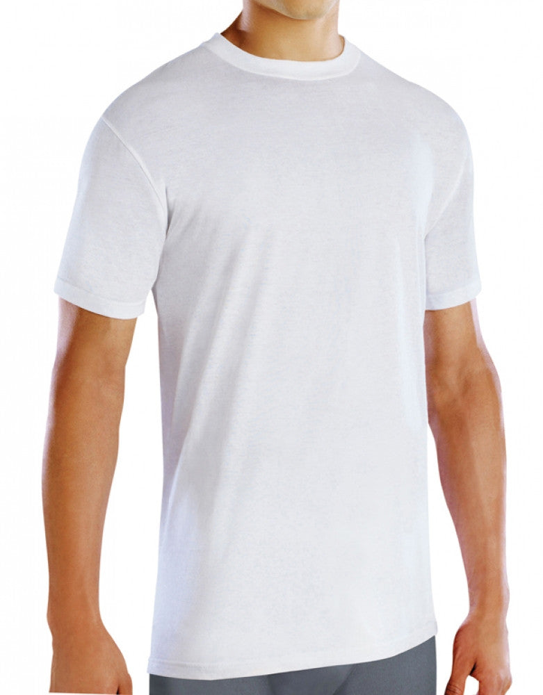 White Front Fruit of the Loom 4-Pack Premium Crew Neck T-Shirts