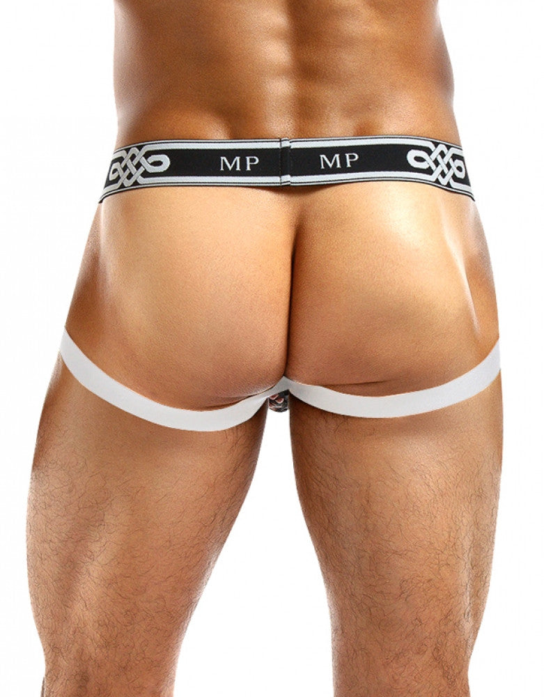 White Back Male Power Peep Show Jockstrap