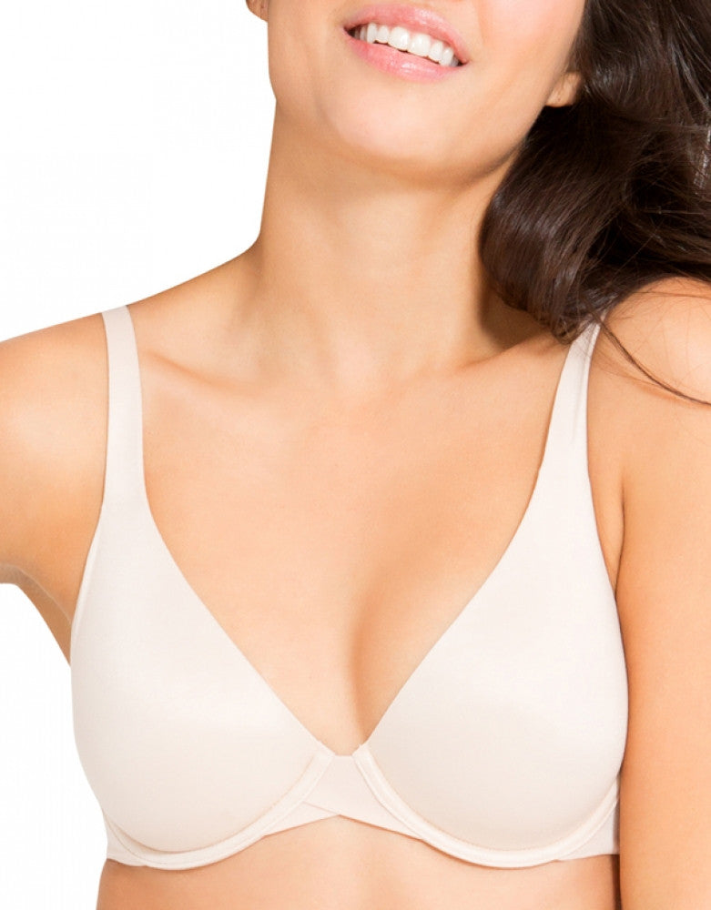 Soft Nude Front Spanx Pillow Cup Seamless Back smoothing Bra