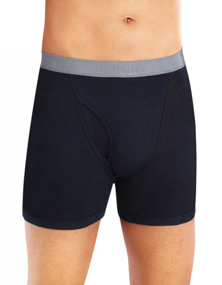 Black/Grey Front Fruit of the Loom 4-Pack Premium Boxer Briefs
