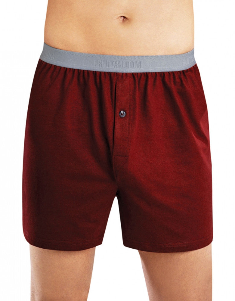 Assorted Front Fruit of the Loom 	 4-Pack Premium Knit Boxer Shorts