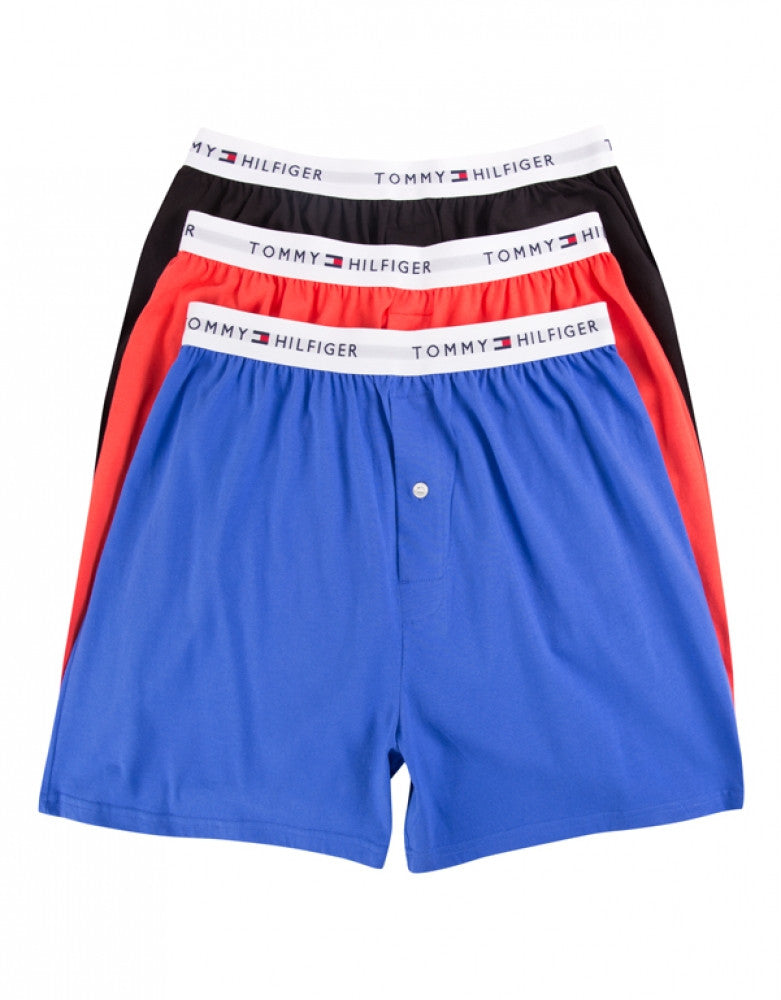 Blueberry Front Tommy Hilfiger 3-Pack Knit Boxer Shorts