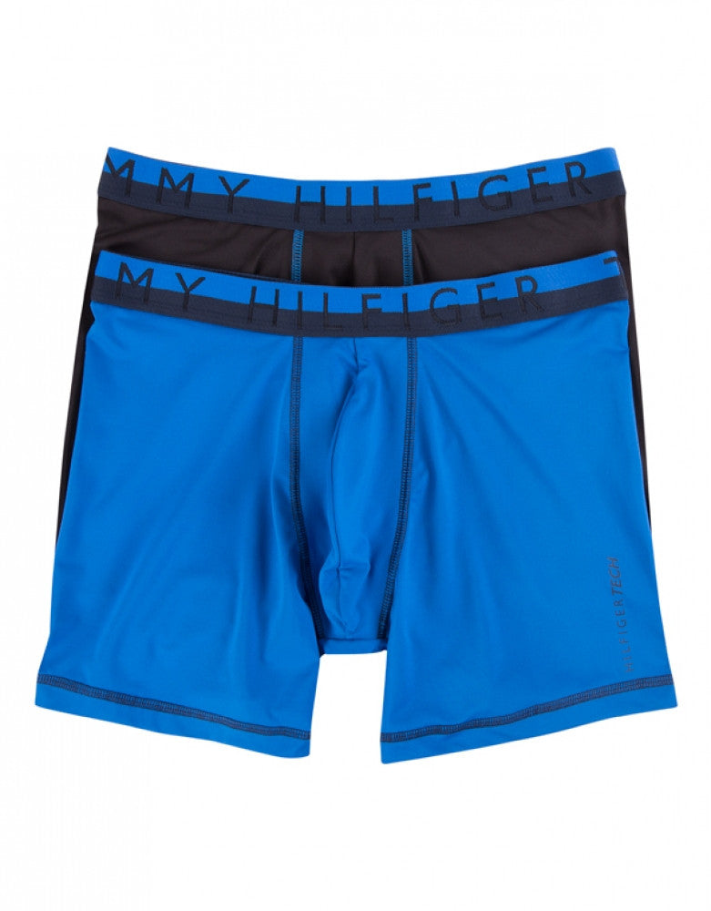 Ultra Blue Front Tommy Hilfiger 2-Pack Active Boxer Briefs